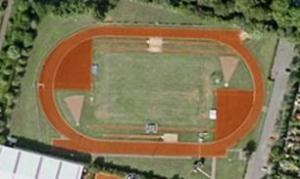 Atletiekbaan AVA bovenaanzicht