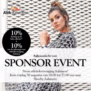 shoeby sponsor event AVA